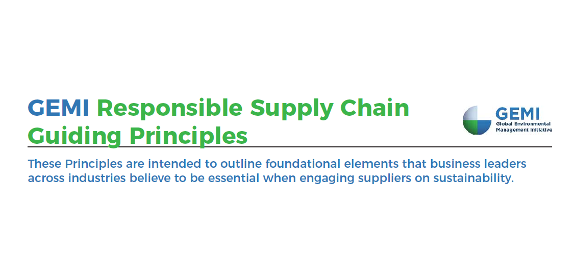 GEMI Publishes Responsible Supply Chain Guiding Principles